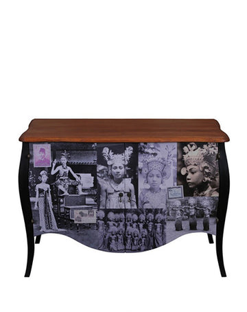 Venice Commode 2 drw (postcard/black)