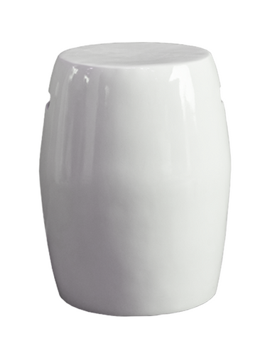 Ceramic Round Stool (White)