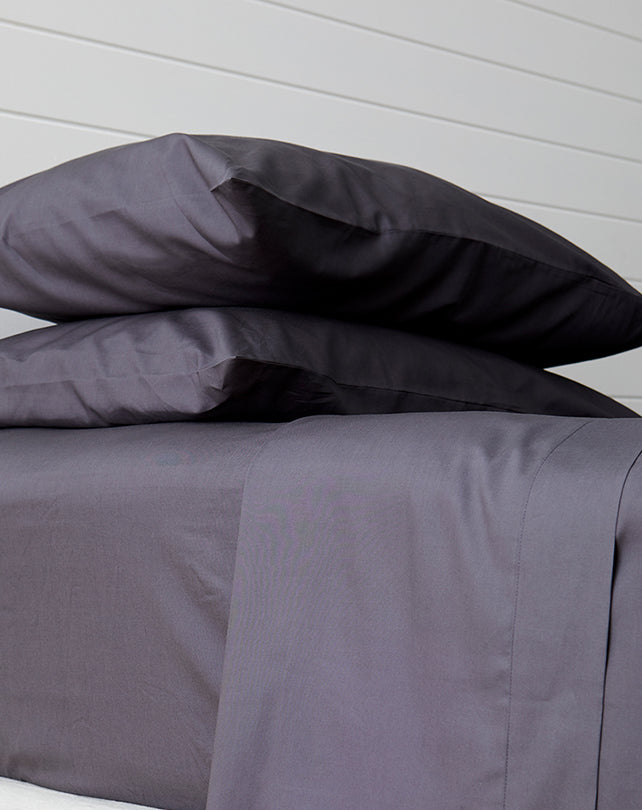 Eucalyptus Pillow Case Set Charcoal
