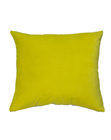 Essential Chartreuse Velvet Cushion 50x55