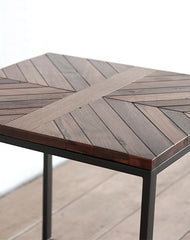 Chevron Side Table