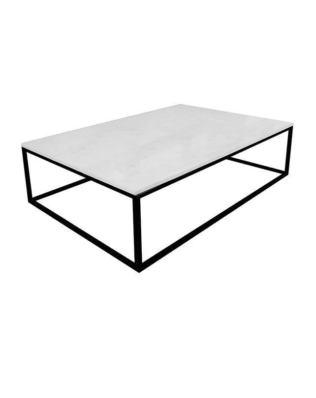 Chill coffee table (marble+black base)