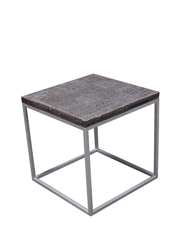 Chill Side Table (carved tile)