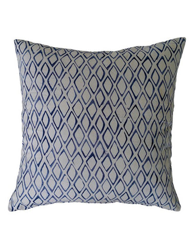 Cornflower Blue Diamond Cushion