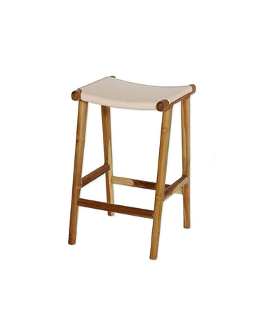 Maya Counter Stool Flat Leather - Natural