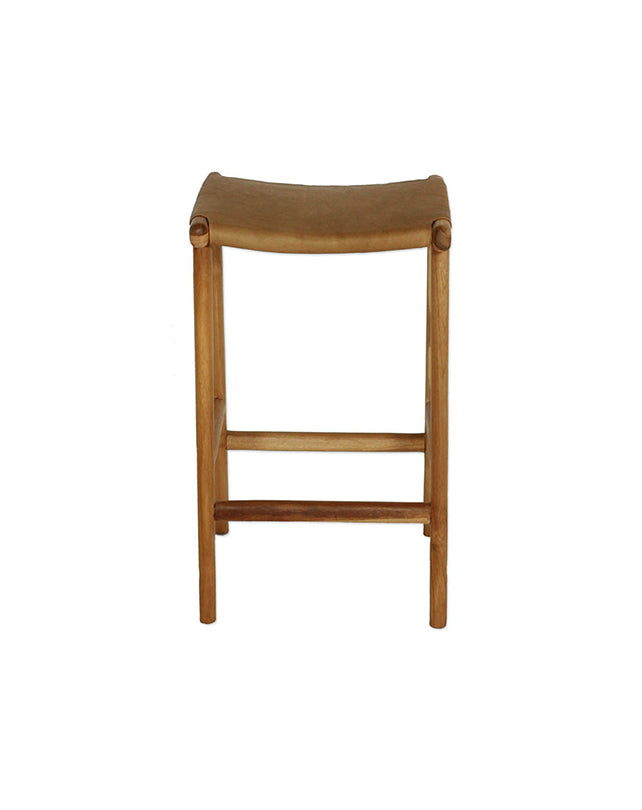 Maya Counter Stool Flat Leather - Tan
