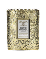 Voluspa Crane Flower Scalloped Candle 176g
