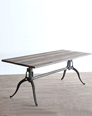Crank Base Dining Table