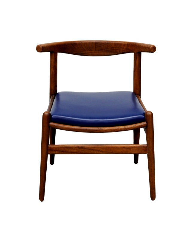Hansje Chair (Walnut/Blue Leather)