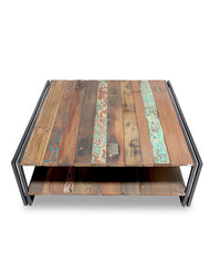 Edito coffee table 100x100cm with shelf