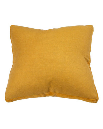 Essential Sunflower Natural Linen Velvet Gusset Cushion 60x60