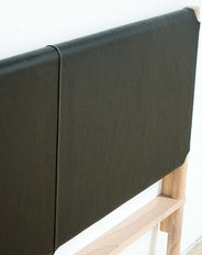 Seed Head Board Flat Leather Black Queen