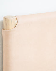 Gaia Head Board Flat Leather Natural Queen