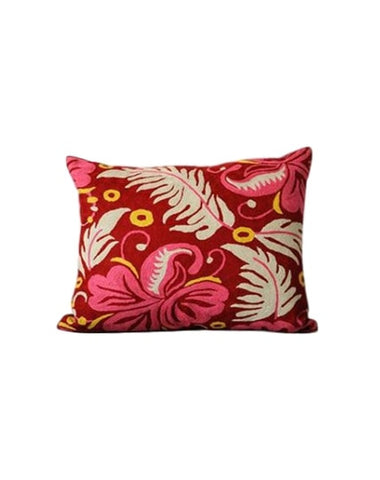Hibiscus Chainstitch Pillow
