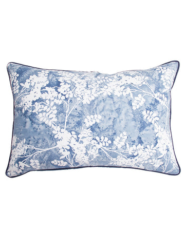 Indigo Fern Lumbar Cushion 40x60