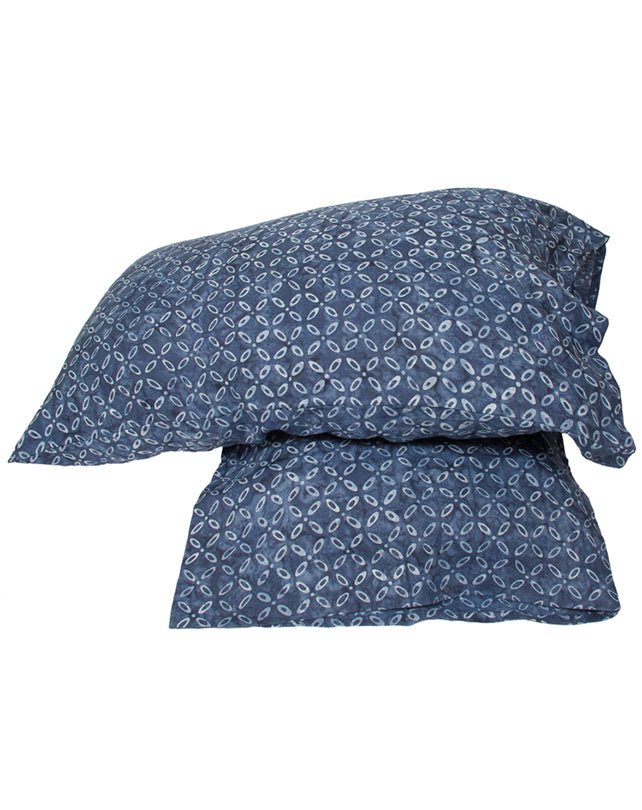 Indigo Kawang Linen Pillowcase