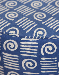 Indigo Fabric Stool