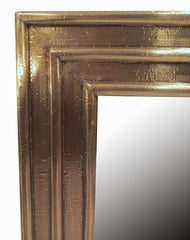 Ribbed Brass Large Mirror
