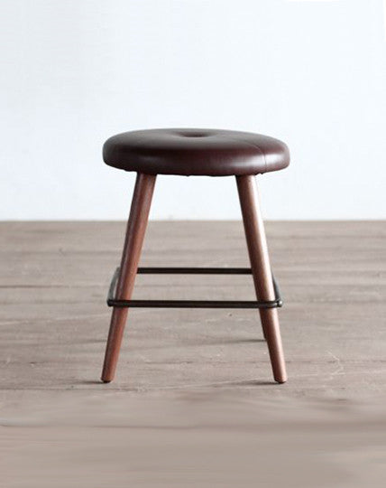 Leather Top Cafe Stool