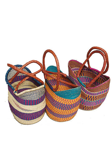 Ghanaian U Shopper Basket - Long Handle