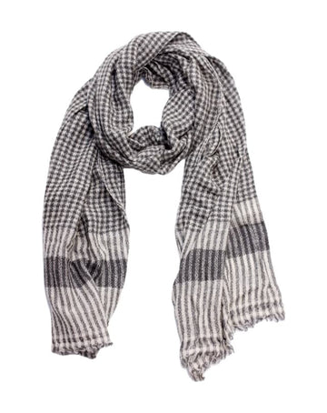 Wool & Cashmere scarf (check)