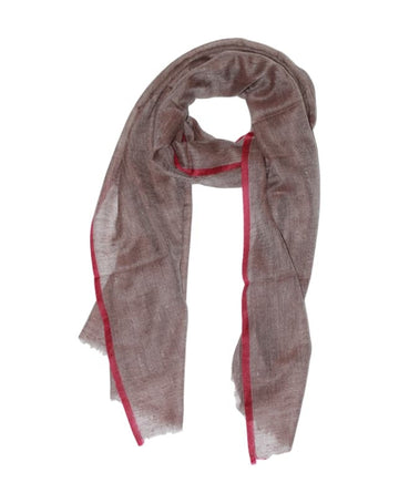 100% Cashmere scarf (brown/red)