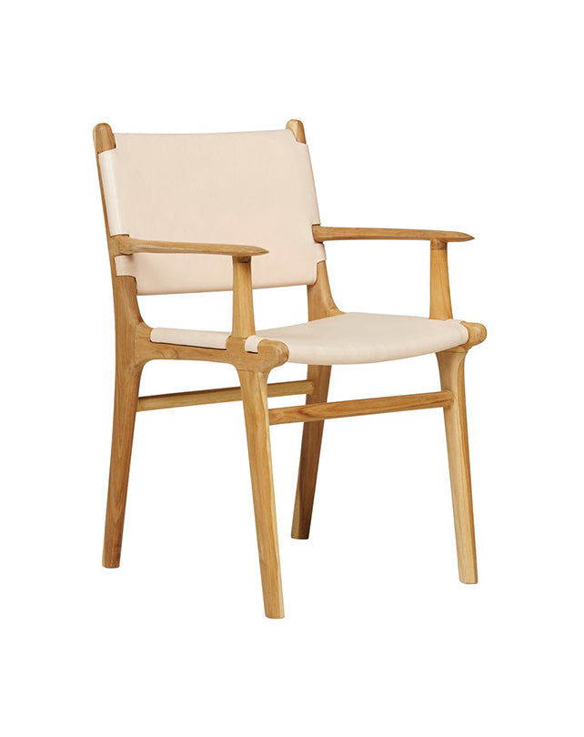 Maya Carver Chair (Flat Leather)