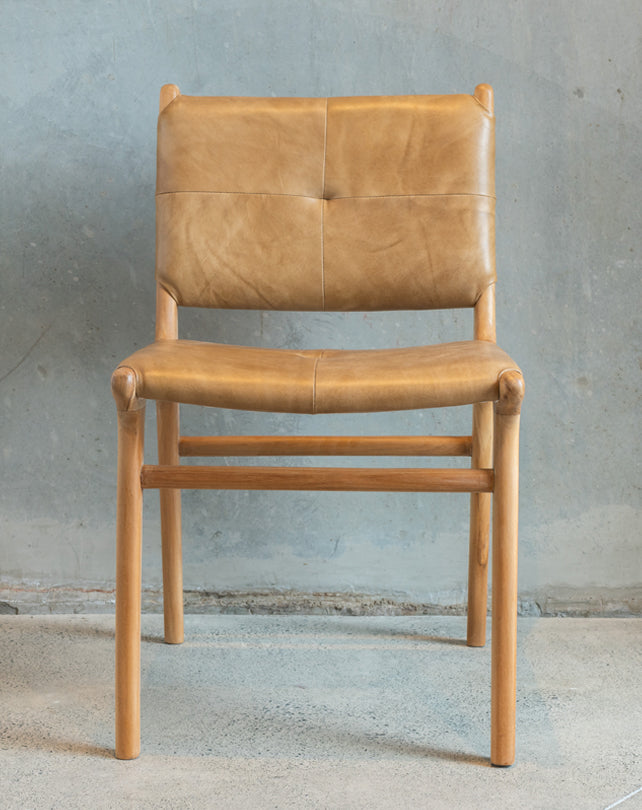 Maya Plush Dining Chair (Tan)