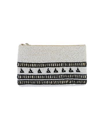 Monochrome Beaded Purse