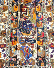 Balouch Herat Rug (Decoration) 198x118cm