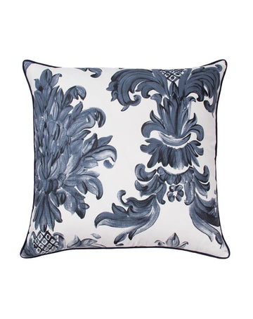 Damask Navy Cushion 50x50