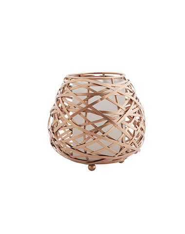 Copper Oval Wire Candle Holder (Medium)