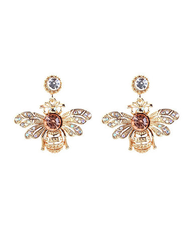 Queen Bee Crystal Earrings