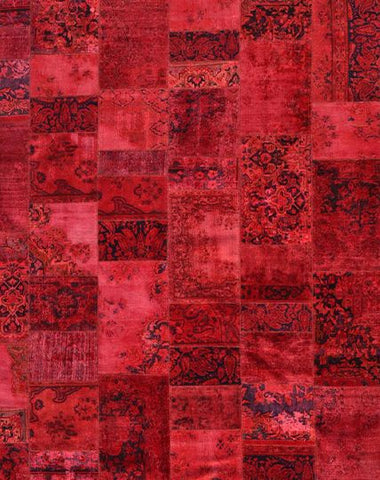 Patchwork Rug Red 310x255