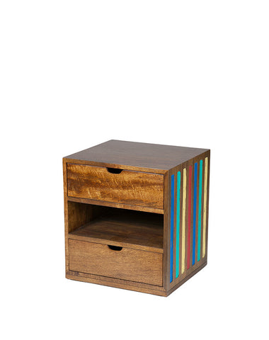 Rolly Bedside 2 Drawer