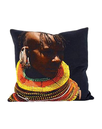 Samburu Tribesman cushion -  Multi coloured