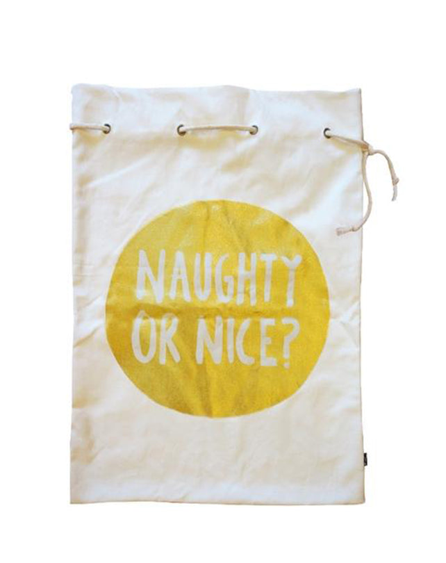 Naughty or Nice Santa Sack