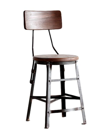 Scaffold Cafe Stool with Back