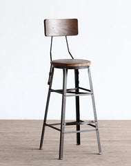 Scaffold Bar Stool with Back