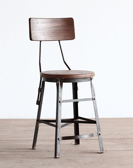 Scaffold Stool with Back (48cm)