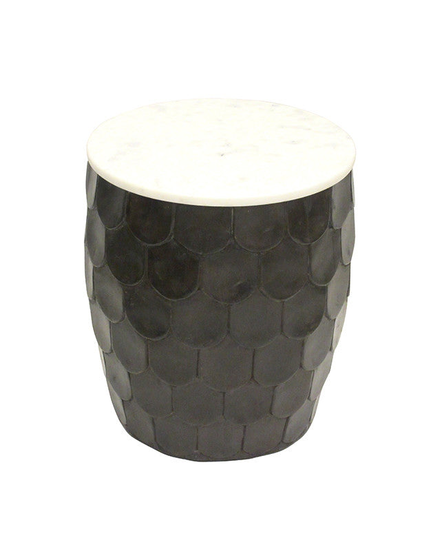 Scaled Side Table (Black)