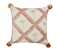 Tiny Palms Cushion Pink 60x60