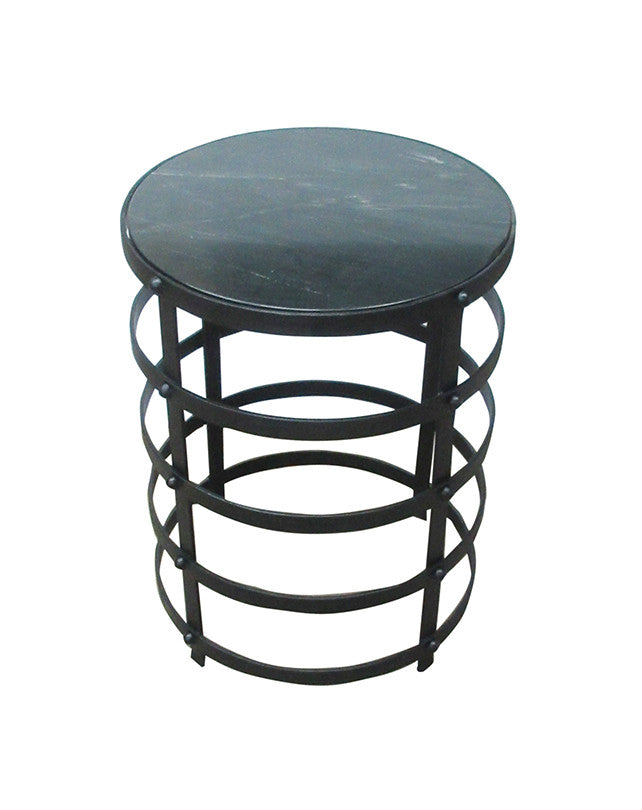 Surat Side Table (Black Marble)