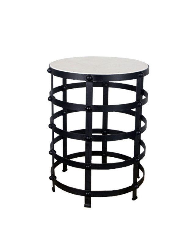 Surat Side Table (White Marble)