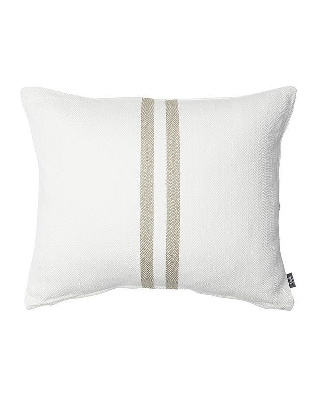 Sympatico Cushion White/Natural 50x60
