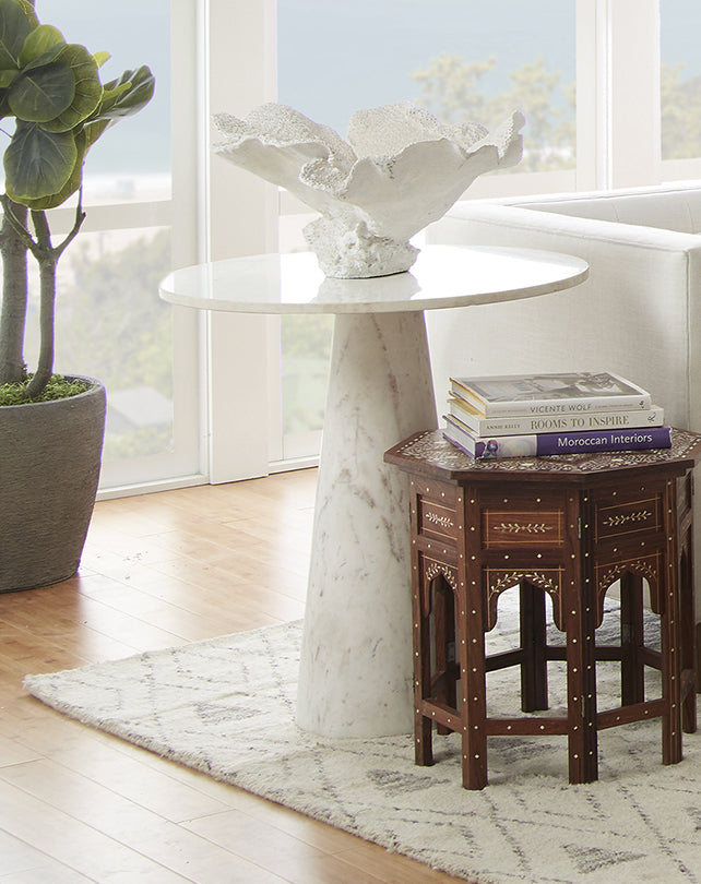 Agra Marble Accent Table