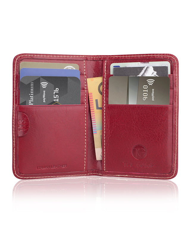 Slimline Card Wallet 'The Googly' (Cherry)