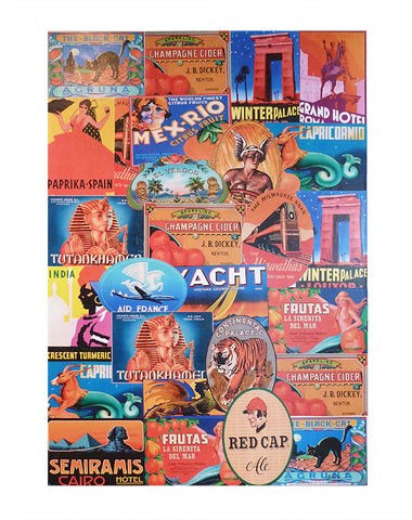 Vintage Tin Montage Artwork