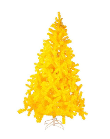 7' Yellow Xmas tree
