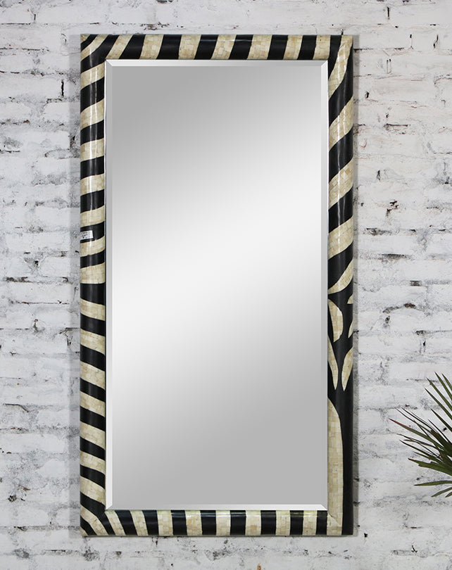 Zebra Bone Inlay Mirror